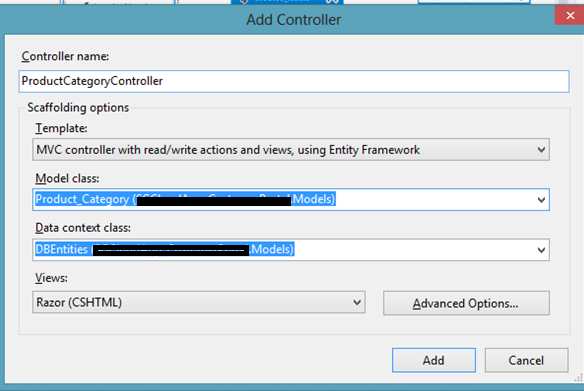 how to get database object in mvc controller